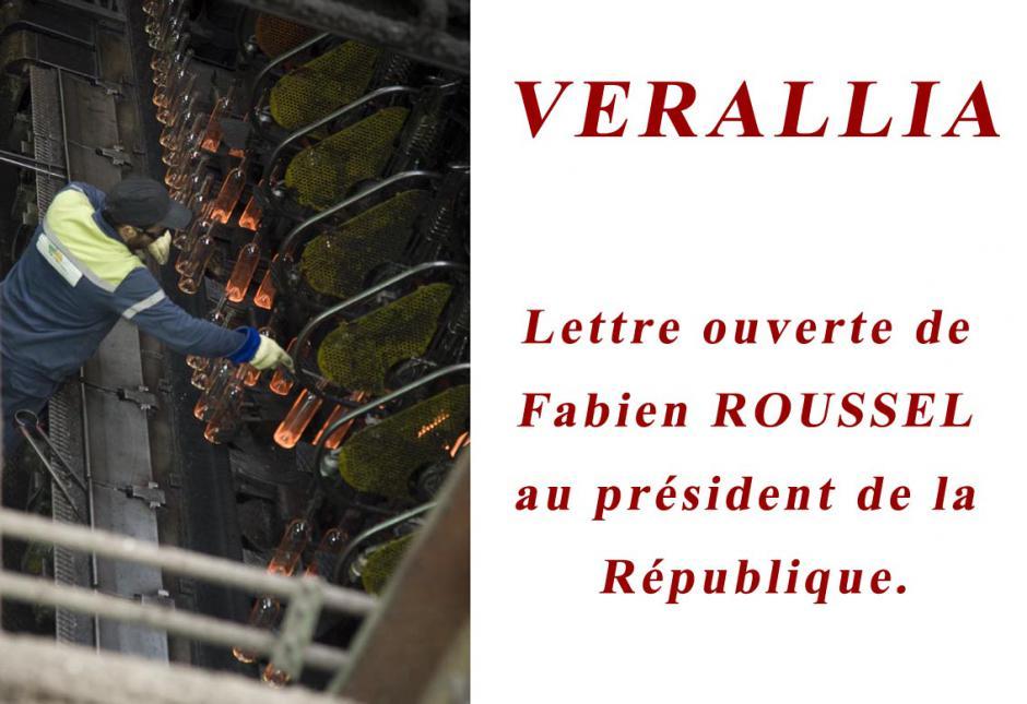 VERALLIA. VOA Une solution industrielle sociale, économique, existe. Lettre Ouverte de Fabien ROUSSEL au président de la République.