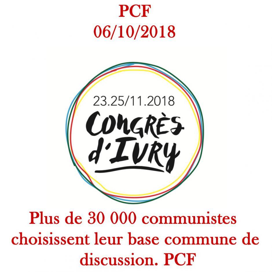 Les 4, 5, et 6 Octobre. Plus de 30 000 communistes choisissent leur base commune de  discussion.