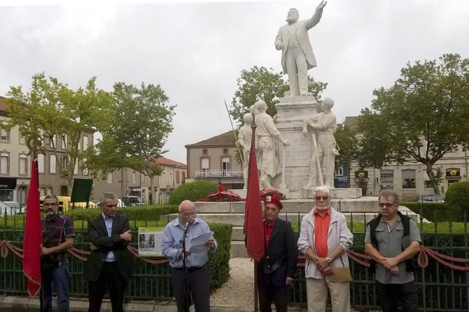 Commémoration Assassinat de Jaurès - Carmaux le 31 juillet 2016