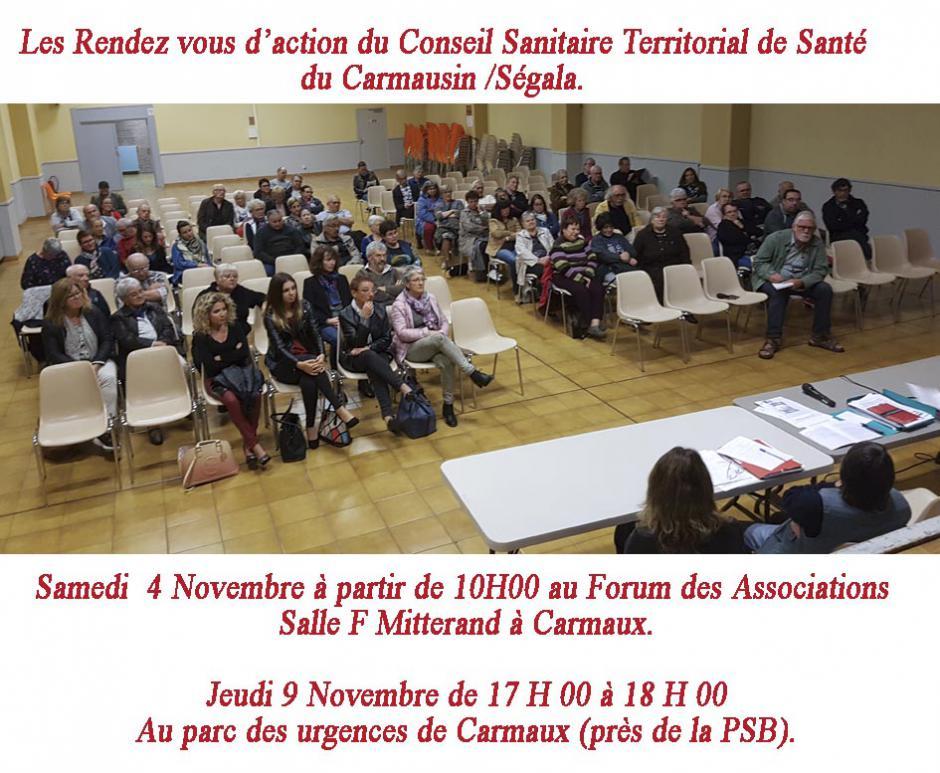 Conseil sanitaire territorial du Carmausin. L'action en novembre