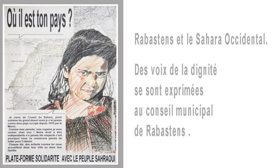 RABASTENS (Tarn) ET LE SAHARA OCCIDENTAL. Voix de la dignité au Conseil municipal.