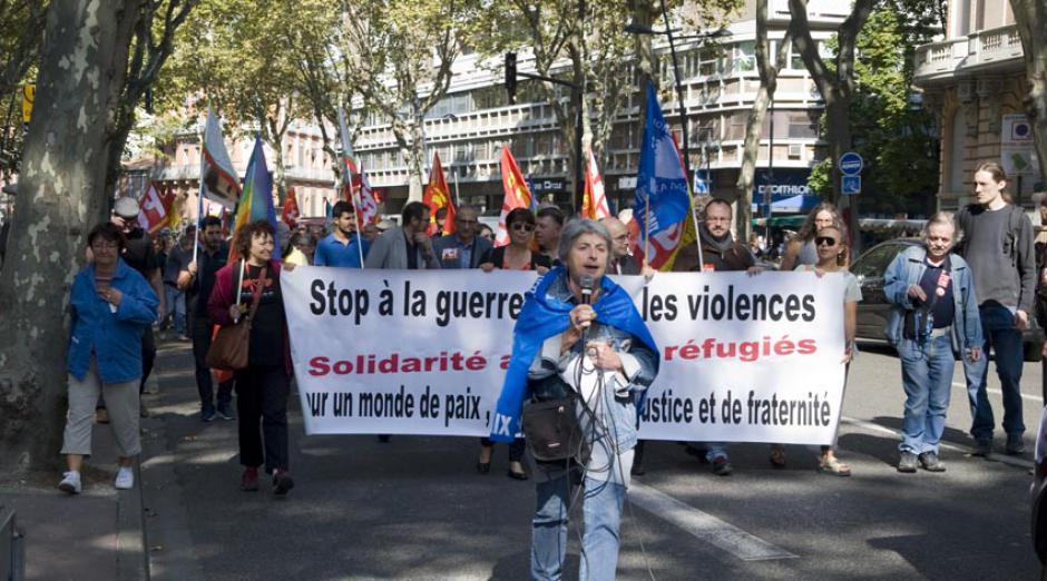 Toulouse, parmi les 40 Marches pour la Paix ce samedi 23 Septembre.