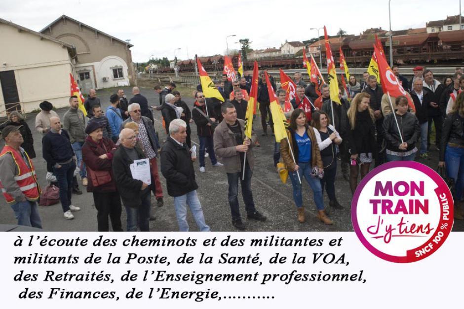 ALBI Lundi 9 04 18. Solidarité interprofessionnelle et soutiens usagers/cheminots