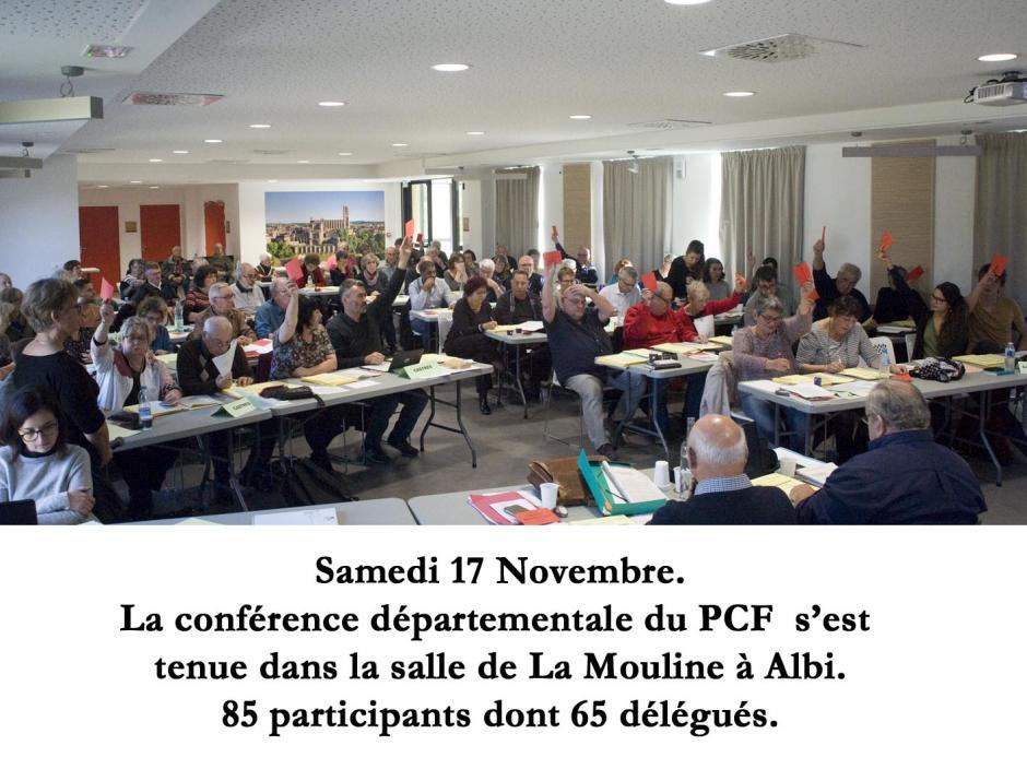 Les Communistes tarnais en Conférence départementale à Albi