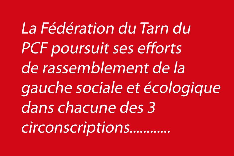 De nouveaux efforts du PCF du Tarn vers le rassemblement..