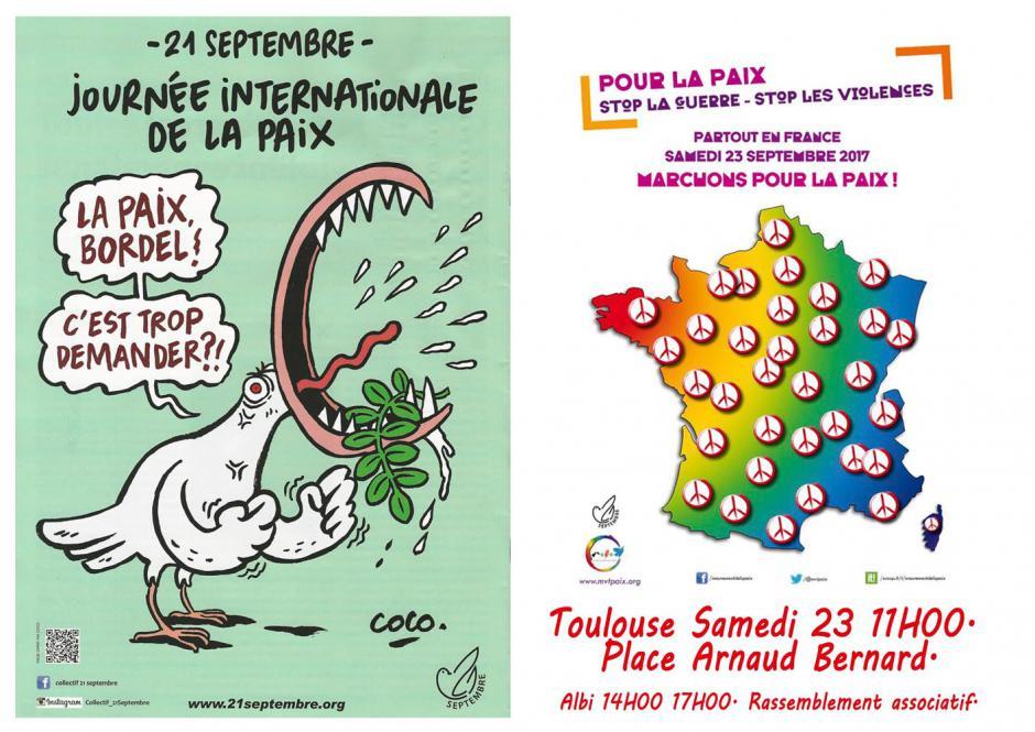 Ce 23 Septembre......... Journée internationale pour la Paix.