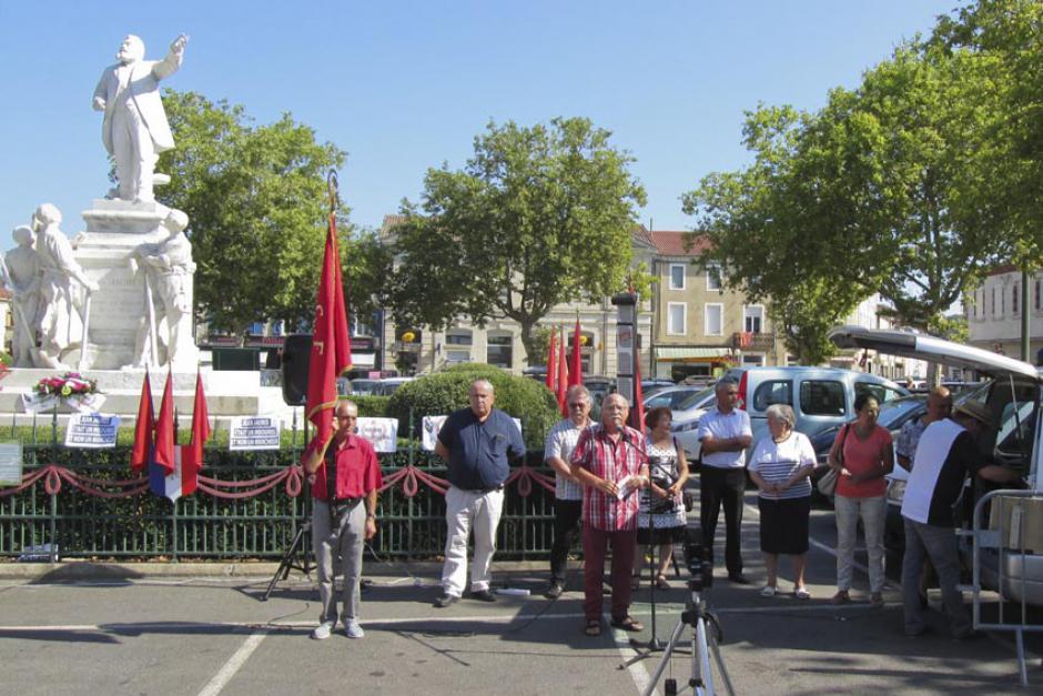L'hommage de la section PCF de Carmaux à Jean Jaurès