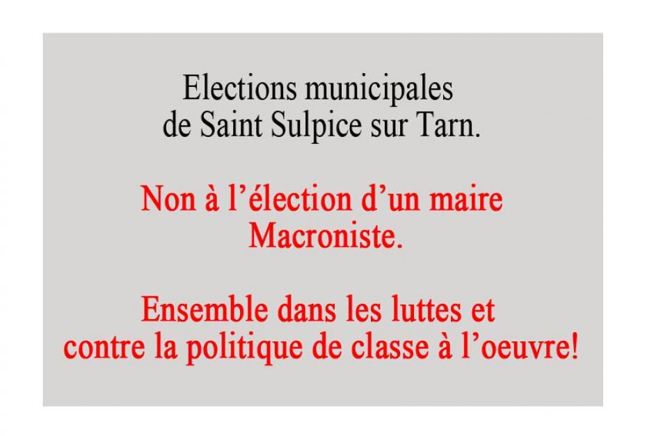 Saint Sulpice. Municipales.