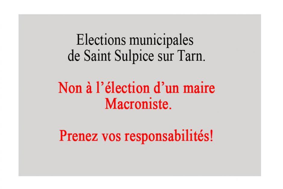 Municipales à Saint Sulpice.