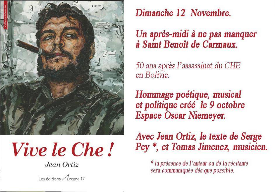 Hommage poétique, musical et politique à CHE Guevara dansle Tarn.